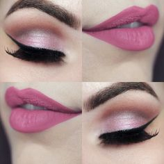 Gorgeous Makeup: Tips and Tricks With Eye Makeup and Eyeshadow – Makeup Design Ideas Eye Makeup, Pink Makeup, Hair Makeup, Makeup Lipstick, Lipsticks, Gorgeous Makeup, Pretty Makeup, Romantic Makeup, Bridal Makeup