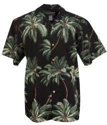 Waimea Palms Cotton Mens Hawaiian Aloha Shirt in Black Hawaii Shirts, Mens Hawaiian Shirts, Camisa Floral, Type Art, Bowling Shirts, Aloha Shirt, New Hobbies, World Cultures, Palms