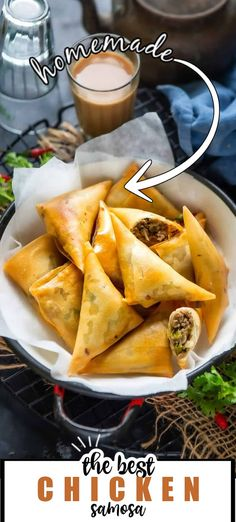 Chicken Samosa Recipes, Yummy Chicken Recipes, Chicken Flavors, Yum Yum Chicken, Cheesy Chicken, Crispy Chicken, Indian Food Recipes, Asian Recipes, Ethnic Recipes