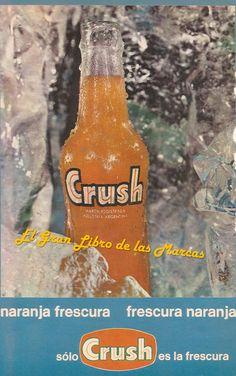 Cartel publicitario de Orange Crush, Argentina año 1972