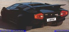 The rear view of the Lamborghini Countach Koenig Specials