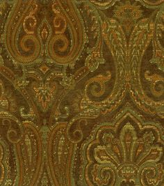 Upholstery Fabric-Waverly Clubroom Paisley Java