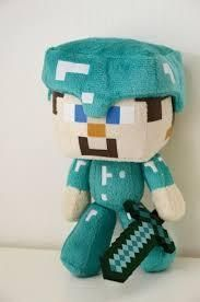 Minecraft - Steve with Diamond Armor Plush Stuffed Toy