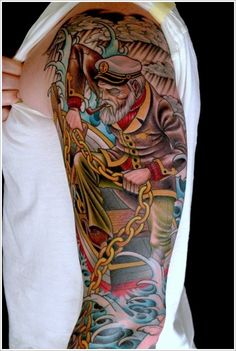 In this post, we are going to share 50 Awesome Nautical Tattoo Designs and Ideas for you. Hope you will like our collection of 50 Nautical Tattoo Designs. Full Sleeve Tattoo Design, Design Tattoo, Full Sleeve Tattoos, Top Tattoos, Arm Tattoos For Guys, Great Tattoos, Beautiful Tattoos, Tatoos, Inspiring Tattoos