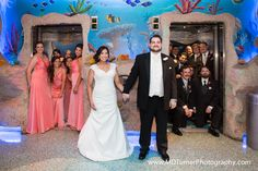 Cute double elevator bridal party shot - Houston wedding photography - MD Turner Photography
