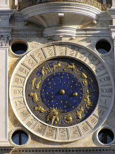 Venice Clocktower; note the astronomical constellations (zodiac) on the clock