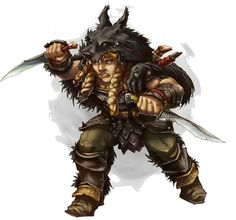 f Dwarf Barbarian 2 daggers Clan of the Wolf East of the Eastern Border