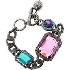 Lanvin Woman Tutti Frutti Gem Bracelet ($820) ❤ liked on Polyvore