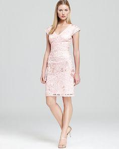 Sue Wong Dress - Cap Sleeve V Neck | Bloomingdale's
