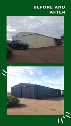 Before and After. Colour: Night Sky ✨ Visit our website to see more shed makeovers.