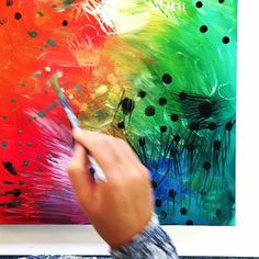 #fortheloveofcolorThe beginnings of a #painting using all the #colours in the #rainbow #goldenacrylics principal fluid set #ijoy #colour #beinspired #makeart #painteveryday #colorpop #art_we_inspire #instaart #paintmixing #favouritecolours #dsart #abmlifeiscolorful #abmcolor #art #artist #elearning #colorful www.explorecolour.com M Color, Color Pop, Make Art, Insta Art, Paint Colors, Abstract Art, Rainbow, Inspire, Colours