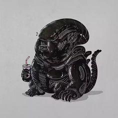 Chunky alien