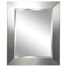 A, this wall mirror features a beveled mirror edge. 27 wide x 31 high x deep. Hang weight is 26 lbs. Glass only section is wide x high. Surrounding frame is wide. Beveled edge is wide. Style # at Lamps Plus. Silver Wall Mirror, Beveled Mirror, Beveled Glass, Mdf Frame, Dining Decor, Black Decor, Frames On Wall, Wall Colors, Bathroom Mirrors