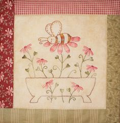 The Honeydrippers stitchery small quilt pattern by Teddlywinks