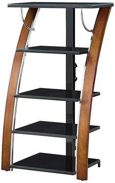 Whalen Furniture AVTEC48-TC High Audio Video Tower, 48-Inch