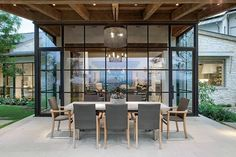 Guides to Choosing A Glass Door Design That'll Fit Your House - Hot Windows - Door Design, Exterior Design, Interior And Exterior, Exterior Windows, Outdoor Rooms, Outdoor Living, Contemporary Architecture, Architecture Design, Steel Doors And Windows