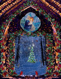 #Merry #Christmas, #painting by Michele Avanti I pray that the deep meaning of this day lights in your heart a renewal of love, wonder, peace & joy...Blessings to all of every faith.. may you find light in the darkness, a friend's hand to guide you and a song that lifts your heart, raises your voice and expands your awareness of the love that surrounds you through all life forms. ..