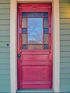 ideas for blue front door ideas stained glass Victorian Front Doors, Vintage Doors, Front Doors With Windows, Glass Front Door, Front Door Design, Front Door Colors, Portal, Entrance Doors, Patio Doors