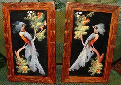 2 Mexican Feather Art Folk Art Bird Pictures
