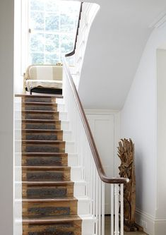 Modern staircase ideas - design and layout ideas to inspire your own staircase remodel, painted diy, decorating basement remodel pictures - staircase ideas Painted Staircases, Painted Stairs, Painted Floors, Modern Staircase, Staircase Design, Staircase Ideas, Staircase Runner, Staircase Makeover, Hallway Ideas
