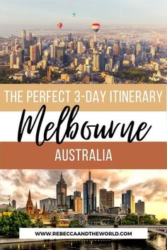 Only got 3 days in Melbourne? Check out this local's guide to the perfect Melbourne itinerary, covering the city's highlights and local gems. From where to go in the CBD and which cool neighbourhoods to explore, this Melbourne travel guide has you covered. Also includes more things to do in Melbourne if you have 5 days in Melbourne or more. | #Melbourne #MelbourneAustralia #AustraliaTravel #ThingsToDoinMelbourne #MelbourneTravelGuide #Melbourne3DayItinerary #MelbourneTravel Brisbane, Sydney, Melbourne Australia, Melbourne Travel, Visit Melbourne, Cool Places To Visit, Places To Travel, Travel Destinations, Weekend Trips