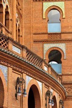 Detalles de Arquitectura de Arena Plaza de Toros de Las Ventas, Madrid, España