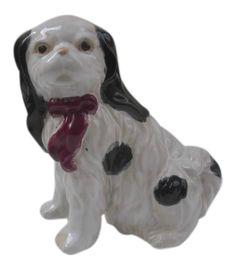 Vintage Ceramic Cavalier King Charles Puppy Figurine on Chairish.com
