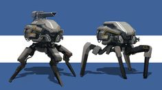 Robots 2, Sam Brown on ArtStation at https://www.artstation.com/artwork/xJlYE
