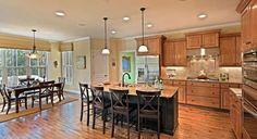 Now just imagine cream cabinets, wood island and darker floors. ;)