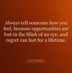 Always tell someone...