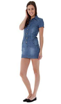 4a8aa1fc94c Teen Denim Dress - Button Front.  teenfashion  denimdress