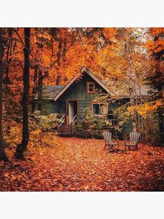 Beautiful World, Beautiful Homes, Beautiful Places, Beautiful Pictures, Cabin In The Woods, Cottage In The Woods, Autumn Scenes, Autumn Cozy, Autumn Fall
