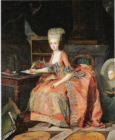 Périn-Salbreux au Musée Cognac-Jay à Paris. Ce tableau aurait comme modèle la comtesse d'Artois