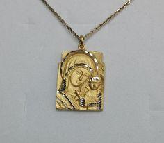 """Vintage Anhänger - 925 Silberanhänger """"Heilige Maria"""" Jesuskind SK181 - ein Designerstück von Atelier-Regina bei DaWanda"""