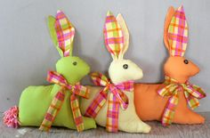 Fabric Easter Bunnies - made to match her Easter dress
