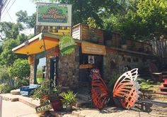 Juiceland on Barton Springs has awesome smoothies and vegan snacks. #Austin