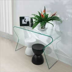 ZUO Modern Respite Clear Console Table
