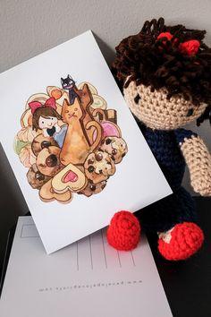 Studio Ghibli Kiki's Bake Goods 5x7 by PenelopeLovePrints on Etsy