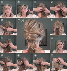 the undone french twist tutorial with blonde clip in human hair extensions