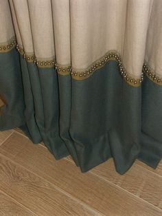 bottom banding with beaded trim details - useful if you have to lengthen your curtains.:
