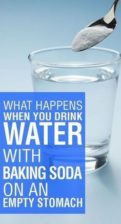 Drink Water with Baking Soda on an Empty Stomach
