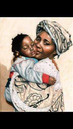 Gambian mother and child