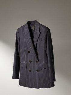 Korean Fashion Work, Blazers, Blazer Jacket, Cool Outfits, Navy Blue, Wool, Elegant, Cotton, Jackets