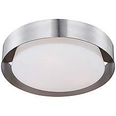 """$208 Saturn Collection 15 1/2"""" Wide Satin Nickel Ceiling Light"""