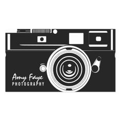 Camera Business Cards   Photography