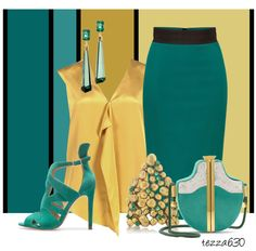"""""""Teal Me Away for the Night"""" by tezza630 on Polyvore"""