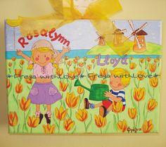παιδικό καδράκι με θέμα την Ολλανδία kids room, kids painting, tulips Painting For Kids, Paintings, Kids Coloring, Paint, Painting Art, Painting, Painted Canvas, Drawings, Grimm