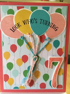 Stampin Up Balloon Celebration and Number of Years