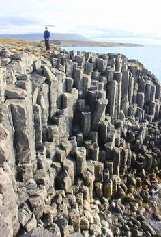 Basalt columns in Hofsos North Iceland