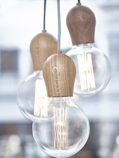 BRIGHT SPROUT by @nordictales direct light oak pendant #lamp   #design Jonas Hoejgaard